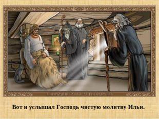 Вот и услышал Господь чистую молитву Ильи.