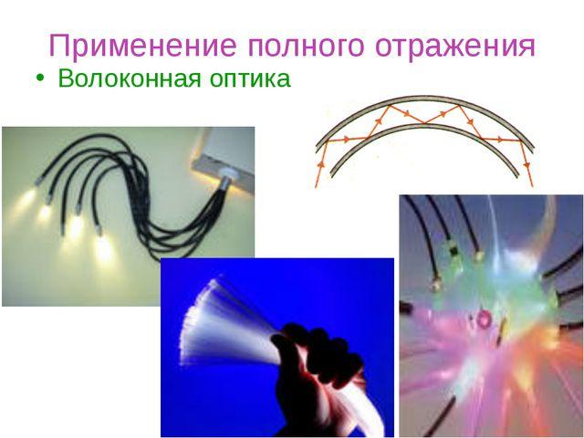 Применение полного отражения Волоконная оптика