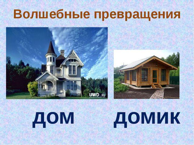 Волшебные превращения дом домик
