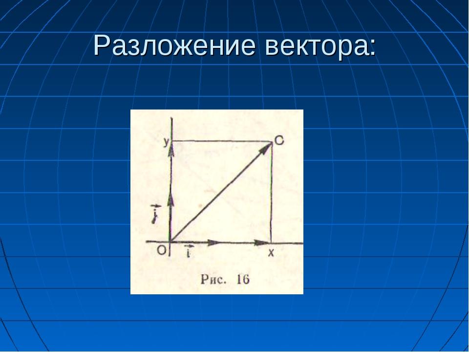 Разложение вектора: