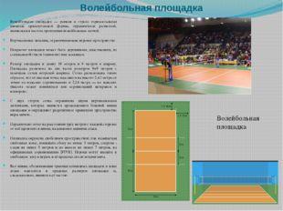 Волейбольная площадка Волейбольная площадка — ровная и строго горизонтальная