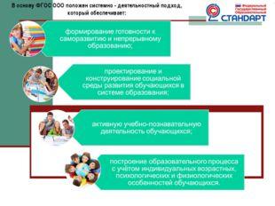 В основу ФГОС ООО положен системно - деятельностный подход, который обеспечив