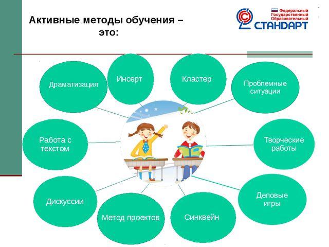 Активные методы обучения – это: Метод проектов