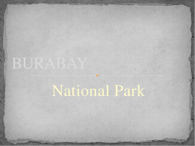National Park BURABAY