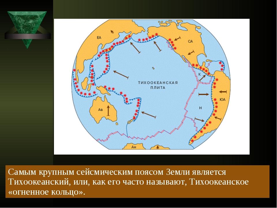 Самым крупным сейсмическим поясом Земли является Тихоокеанский, или, как его...