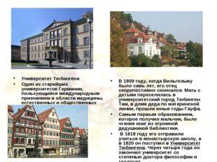 Университет Тюбингена Один из старейших университетов Германии, пользующийся