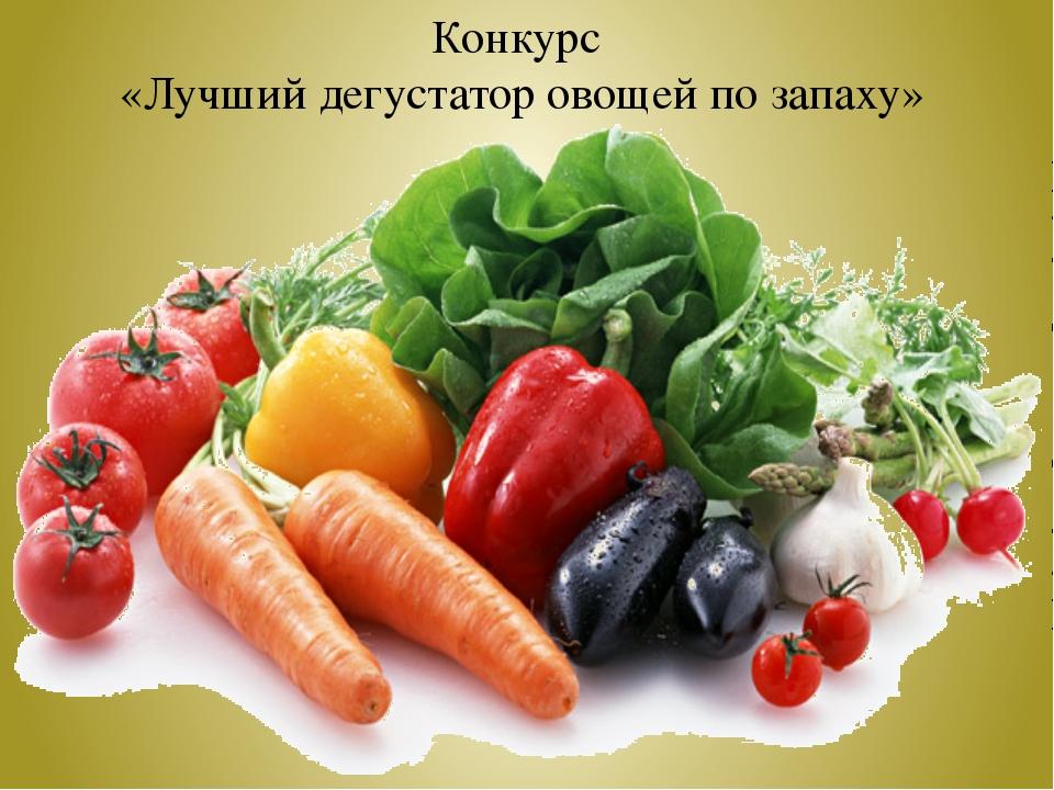 Конкурс «Лучший дегустатор овощей по запаху»