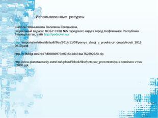 Шаблон: Шамыкаева Василина Евгеньевна, социальный педагог МОБУ СОШ №5 городс