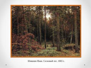 Шишкин Иван. Сосновый лес. 1865 г.