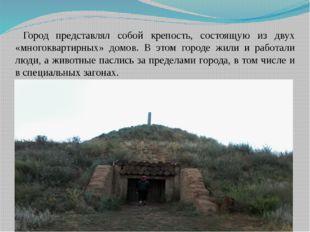Город представлял собой крепость, состоящую из двух «многоквартирных» домов.