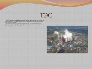 ТЭС Для ТЭС характерно высокое радиационное и токсичное загрязнение окружающе
