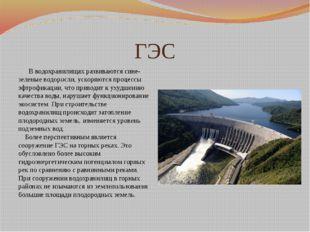 ГЭС В водохранилищах развиваются сине-зеленые водоросли, ускоряются процессы