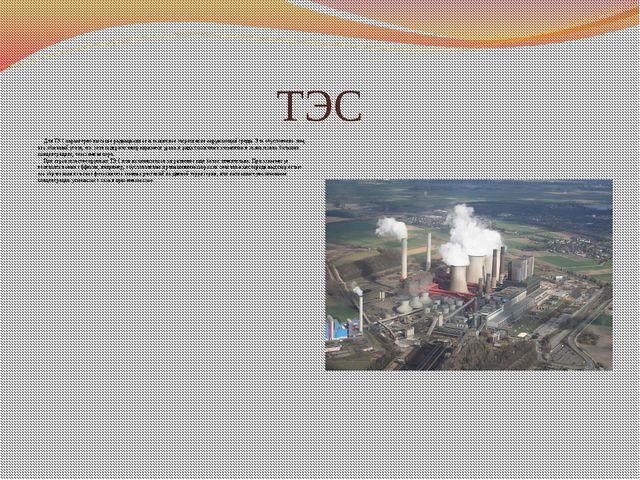 ТЭС Для ТЭС характерно высокое радиационное и токсичное загрязнение окружающе...