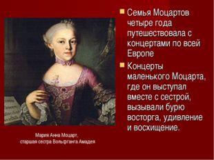 Семья Моцартов четыре года путешествовала с концертами по всей Европе Концерт