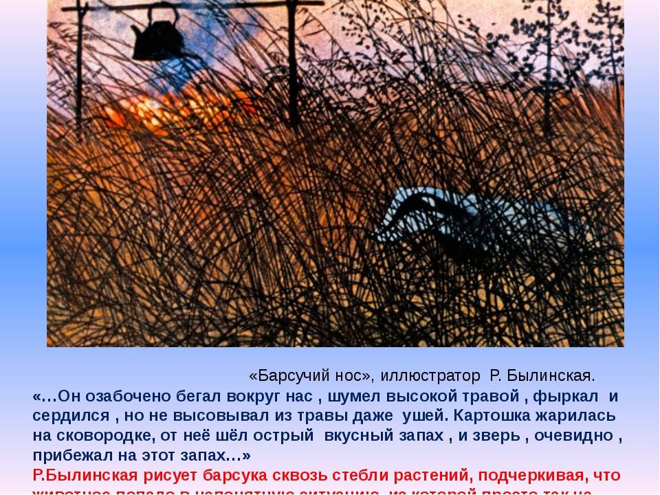 «…Он озабочено бегал вокруг нас , шумел высокой травой , фыркал и сердился ,...