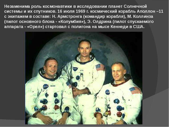 Незаменима роль космонавтики в исследовании планет Солнечной системы и их спу...