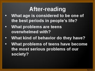 After-reading What age is considered to be one of the best periods in people'