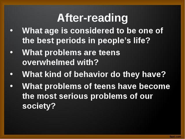 After-reading What age is considered to be one of the best periods in people'...