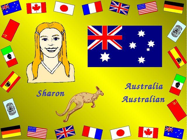 Sharon Australian Australia