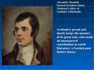 Alexander Nasmith, Portrait of Robert Burns (National Gallery of Scotland, Ed