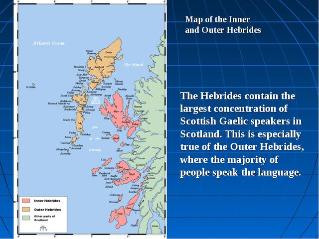 Map of the Inner and Outer Hebrides The Hebrides contain the largest concentr...