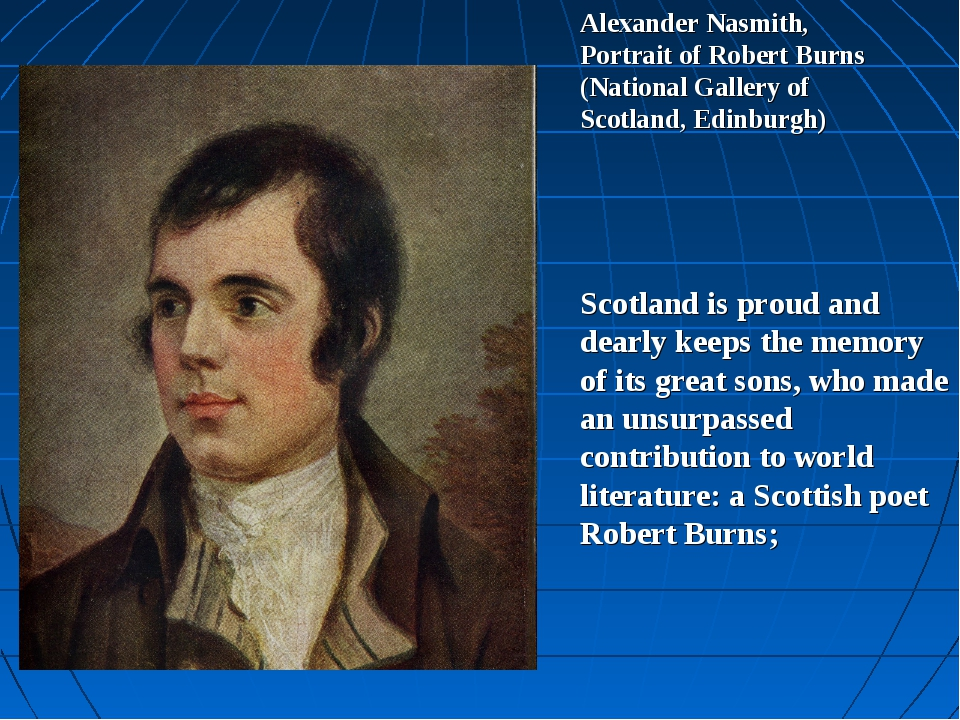 Alexander Nasmith, Portrait of Robert Burns (National Gallery of Scotland, Ed...