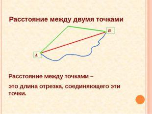 Расстояние между двумя точками Расстояние между точками – это длина отрезка,
