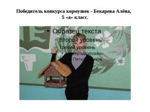 Победитель конкурса кормушек - Бекарева Алёна, 5 «а» класс.