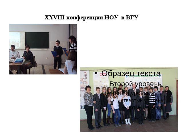 XXVIII конференция НОУ в ВГУ