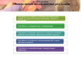 Объекты оценки метапредметных результатов