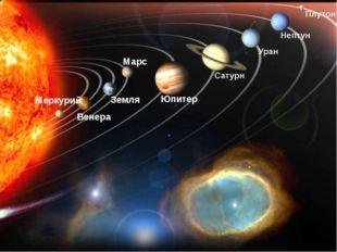 Плутон Меркурий Венера Земля Марс Юпитер Сатурн Уран Нептун