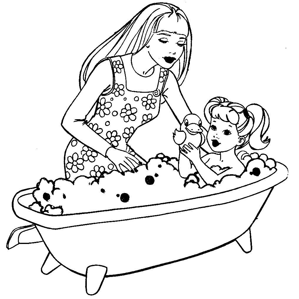 Раскраска распечатать бесплатно девочка