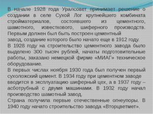 В начале 1928 года Уралсовет принимает решение о создании в селе Сухой Лог кр