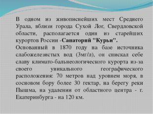 В одном из живописнейших мест Среднего Урала, вблизи города Сухой Лог, Свердл