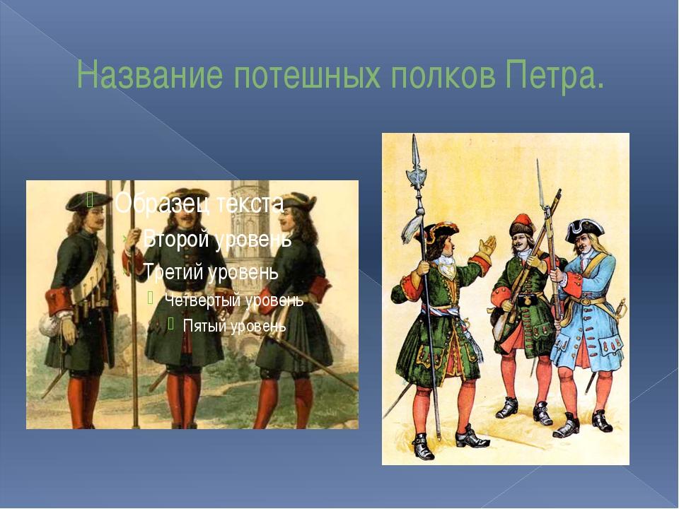 Название потешных полков Петра.