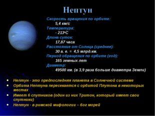 Нептун - это предпоследняя планета в Солнечной системе Орбита Нептуна пересек