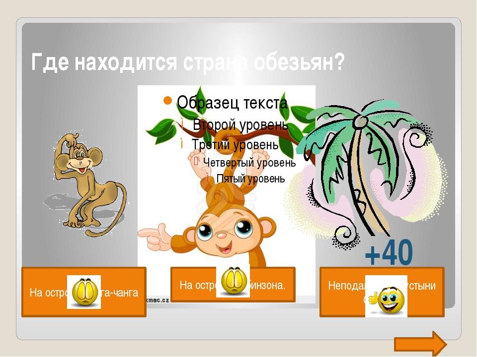 Где находится страна обезьян?