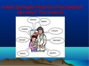 Какую функцию глагола иллюстрируют картинка? Расскажите…