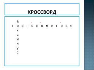 а345 тригонометрия к