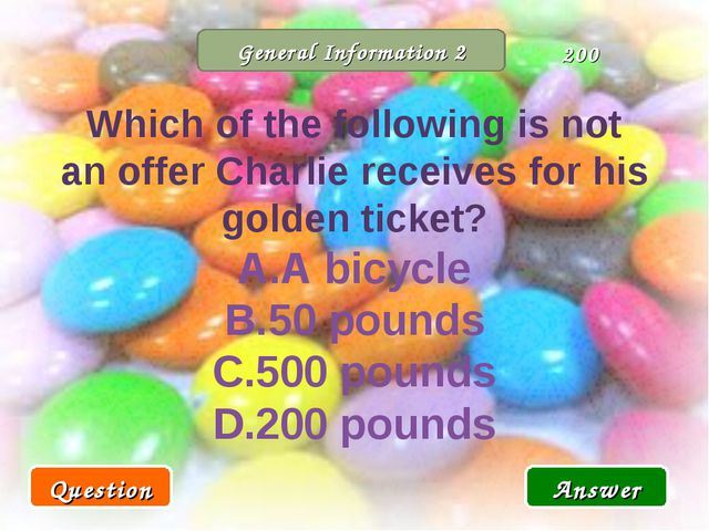 General Information 2 Which of the following is not an offer Charlie receives...