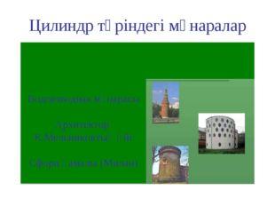 Цилиндр түріндегі мұнаралар Водовзводная мұнарасы Архитектор К.Мельниковтың ү