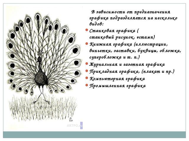 В зависимости от предназначения графика подразделяется на несколько видов: С...