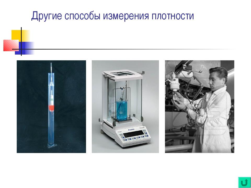 Другие способы измерения плотности ареометр плотметр Прибор для измерения пл...