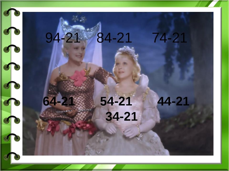 94-21 84-21 74-21 64-21 54-21 44-21 34-21