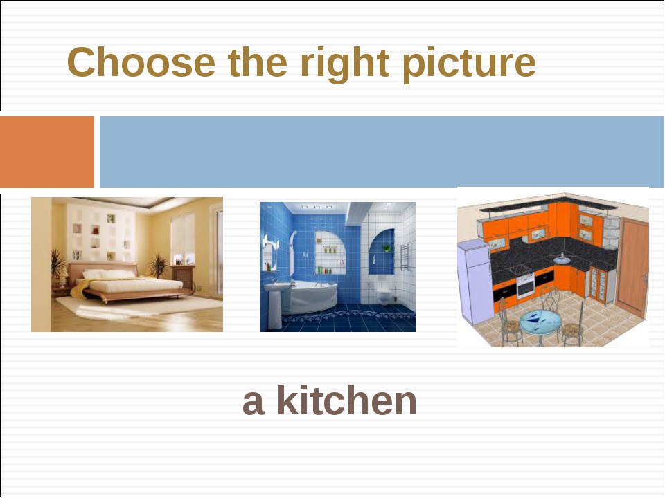 a kitchen Choose the right picture