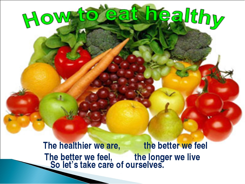 So let's take care of ourselves. The healthier we are, the better we feel Th...