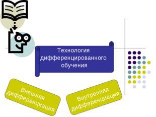 Предметно-ориентированные технологии Внешняя дифференциация Внутренняя диффер