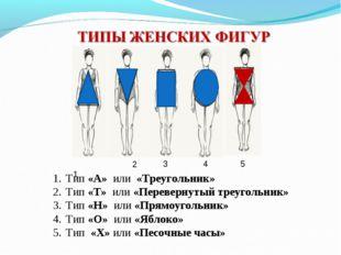Тип «А» или «Треугольник» Тип «Т» или «Перевернутый треугольник» Тип «Н» или