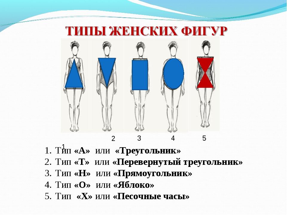 Тип «А» или «Треугольник» Тип «Т» или «Перевернутый треугольник» Тип «Н» или...