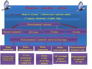 Тұлғаның жеке және жас ерекше ліктерін зерттеу Психолог қызметінің моделі Мақ